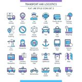 Transport and logistic icons 02 stock illustration