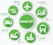 Transport and logistics concept. Green version Stock Photo