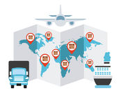 Transport logistics. Design, vector illustration eps10 graphic Royalty Free Stock Image