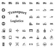 Transport and Logistics letter icon. Transport and Logistics set icons. Transportation set icons. Transport and Logistics set icons. Transportation set icons Stock Image