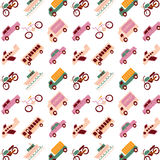 Transport logos and Icons pattern Royalty Free Stock Photo