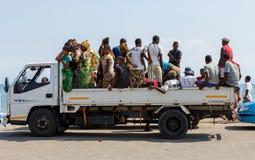 Transport malgache traditionnel de voiture de peuples photographie stock