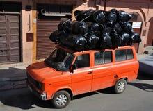 Transport in Marrakech. Overloaded Van in Marrakech, Morocco Royalty Free Stock Photos