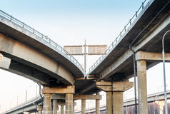 Transport metropolis, road junction in Moscow Royalty Free Stock Photography