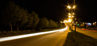 Transport metropolis. Traffic and blurry lights of cars on multi-lane highways Stock Photography