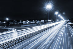 Transport metropolis, traffic and blurry lights Royalty Free Stock Photos