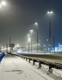 Transport metropolis, traffic and blurry lights Stock Images