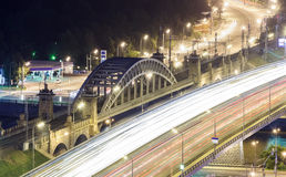 Transport metropolis, traffic and blurry lights Royalty Free Stock Photography
