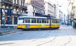 Transport in Milan City, Lombardy Italy Royalty Free Stock Photos