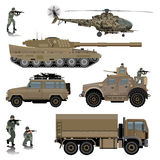Transport militaire Photos stock
