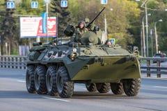 Transport militaire après Victory Parade Photos libres de droits