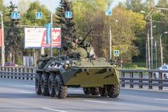 Transport militaire après Victory Parade Images libres de droits