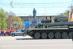 Transport militaire sur son chemin arrière après Victory Day Parade Photo libre de droits