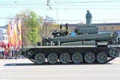 Transport militaire sur son chemin arrière après Victory Day Parade Images stock