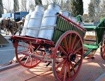 Transport of milk Stock Photo