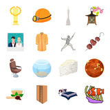 Transport, mine, space and other web icon in cartoon style.Furniture, sport, wedding icons in set collection. Stock Image