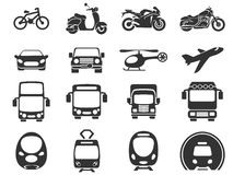 Transport mode icons Stock Photography