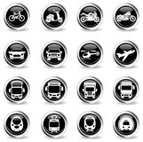 Transport mode icons Royalty Free Stock Photos