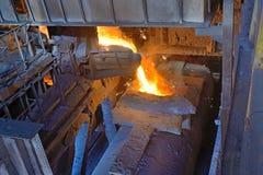 Transport the molten metal Stock Photos