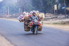 Transport on motorbike Stock Photo