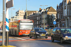 Transport movement  in the Dutch town Den Bosch. Stock Photography