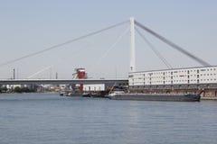 Transport na rzecznym Rhine Obraz Royalty Free