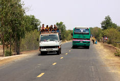 Transport na ulicie w Kambodża Obrazy Royalty Free