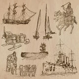 Transport no.9 - Pack of  hand drawn illustrations Stock Image