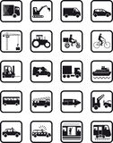 Transport occupation icons. Set of icons showing various transport occupations and types of vehicle Royalty Free Stock Photography