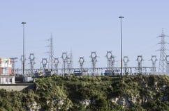 Transport och fördelning av elektricitet Royaltyfria Bilder