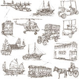 Transport pack - Freehand, Orginal sketches Royalty Free Stock Photos