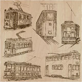 Transport pack - an hand drawn vector illustrations Royalty Free Stock Photography