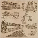Transport pack - an hand drawn vector illustrations Royalty Free Stock Photo