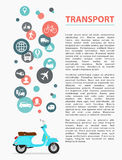 Transport page Royalty Free Stock Photos
