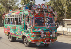Transport in Pakistan. This photo is taken in Pakistan. Transportation in Pakistan Urdu royalty free stock photo
