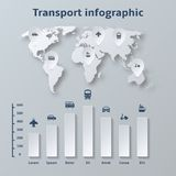 Transport Paper Infographics Elements royalty free illustration