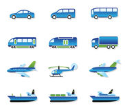 Transport par route, air, longeron et eau Photos stock
