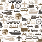 Transport pattern. Seamless pattern with transport icons Stock Image