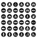 Transport and people Icon collection Stock Photos