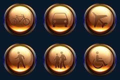 Transport and people icon pack Stock Photo