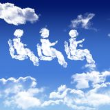 Transport people symbol in the air Stock Photos