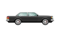 Transport. Picture of Isolated Classical Black Car Royalty Free Stock Photos