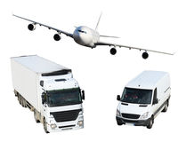 Transport - plane, van and truck Royalty Free Stock Photo
