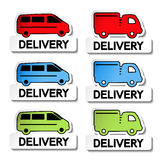 Transport pointers - car delivery Royalty Free Stock Photo
