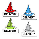 Transport pointers - ship delivery Royalty Free Stock Images