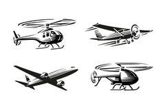 Transport powietrzny ilustracja czarna sylwetka Obrazy Royalty Free