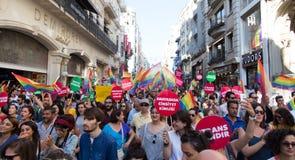 5 Transport Pride March à Istanbul images libres de droits