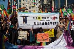 5 Transport Pride March in Istanbul Lizenzfreies Stockfoto