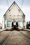 transport public de tramways de luas de Dublin Image libre de droits