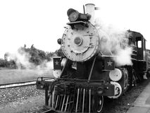 Transport, Rail Transport, Locomotive, Black And White royalty free stock photos